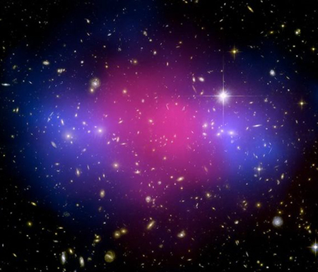 Dark Matter Galaxy Merger